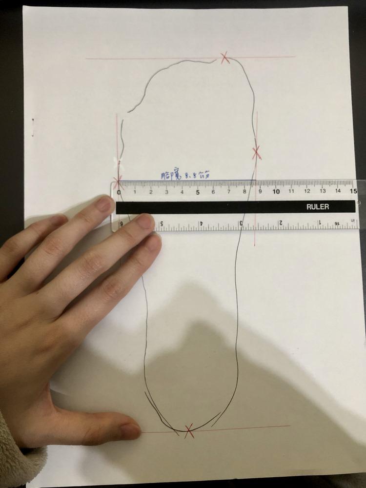 選擇正確尺碼:測量腳長腳寬