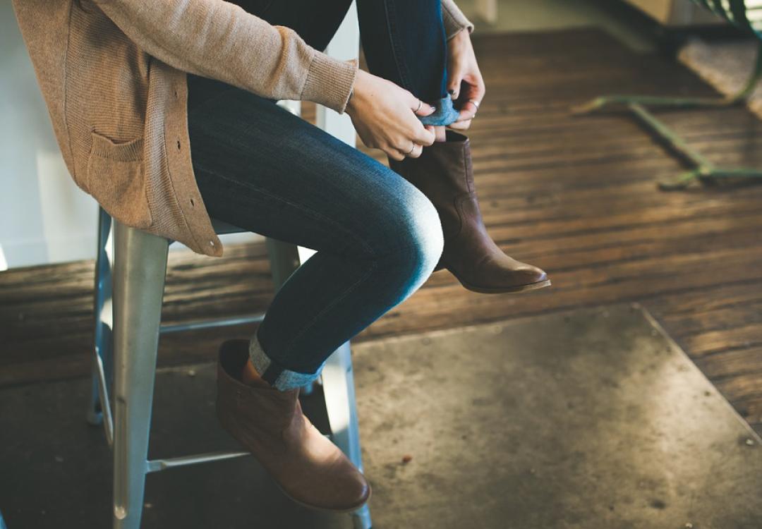 出門前穿鞋