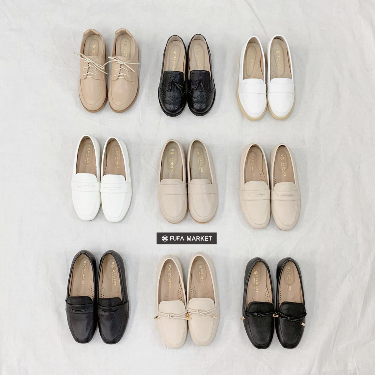 富發牌牛津鞋跟鞋