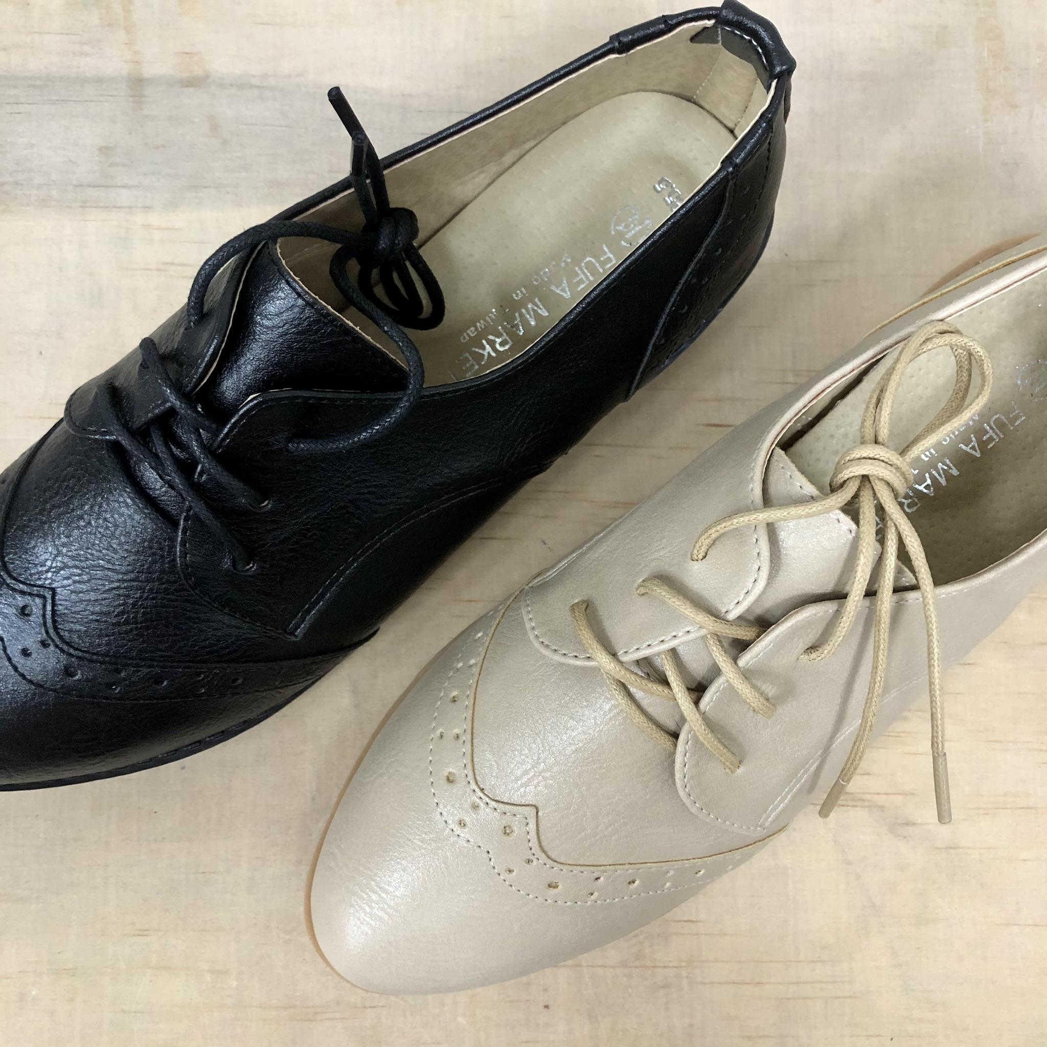 牛津雕花尖頭休閒鞋