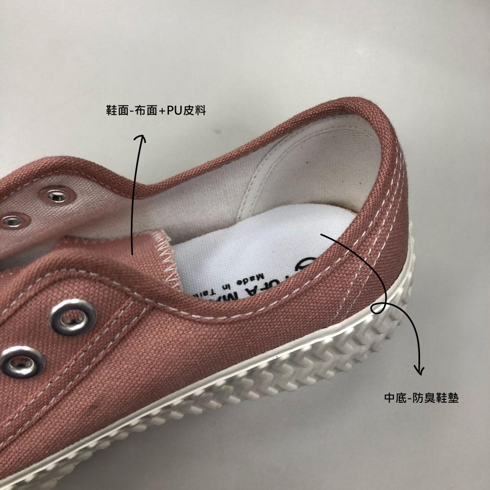 餅乾鞋構造與材質標示